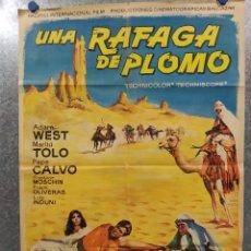 Cine: UNA RÁFAGA DE PLOMO. ROBERT HOFFMANN, MARILÙ TOLO AÑO 1966. POSTER ORIGINAL. Lote 180113776