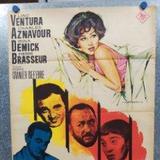 Cine: LAS ALIMAÑAS. LINO VENTURA, CHARLES AZNAVOUR, IRINA DEMICK AÑO 1966. POSTER ORIGINAL. Lote 180114206