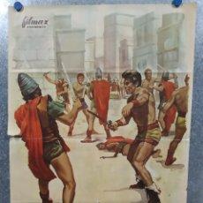 Cine: ESPARTACO Y LOS DIEZ GLADIADORES. DAN VADIS, HELGA LINÉ, AÑO 1965. POSTER ORIGINAL. Lote 180114637
