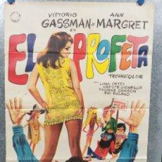 Cine: EL PROFETA. VITTORIO GASSMAN, ANN-MARGRET AÑO 1968. POSTER ORIGINAL. Lote 180115003