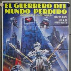 Cine: ZX40 EL GUERRERO DEL MUNDO PERDIDO ROBERT GINTY CIENCIA FICCION POSTER ORIGINAL 70X100 ESTRENO. Lote 180128386