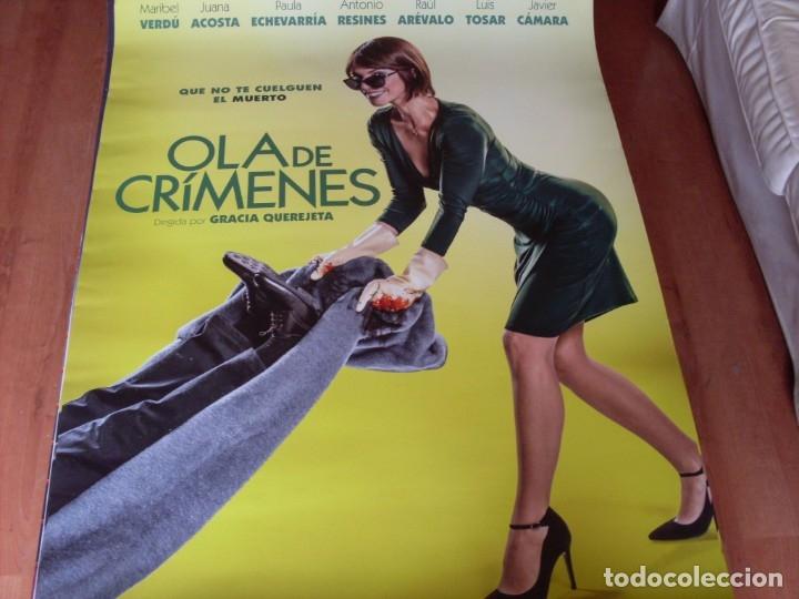 OLA DE CRIMENES - MARIBEL VERDÚ, JUANA ACOSTA, PAULA ECHEVARRÍA - CARTEL ORIGINAL AÑO 2018 (Cine - Posters y Carteles - Clasico Español)