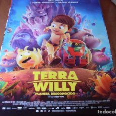 Cine: TERRA WILLY:PLANETA DESCONOCIDO - ANIMACION - CARTEL ORIGINAL AÑO 2019. Lote 180187538