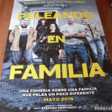 Cine: PELEANDO EN FAMILIA - LENA HEADEY, NICK FROST, DWAYNE JOHNSON - CARTEL ORIGINAL AÑO 2019. Lote 180188940