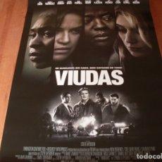 Cine: VIUDAS - VIOLA DAVIS,MICHELLE RODRIGUEZ,ELIZABETH DEBICKI, COLIN FARRELL - CARTEL ORIGINAL AÑO 2018. Lote 180189132