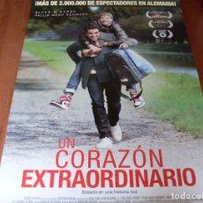 Cine: UN CORAZON EXTRAORDINARIO - ELYAS M'BAREK, PHILIP SCHWARZ, NADINE WRIETZ - CARTEL ORIGINAL AÑO 2017. Lote 180189770