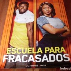 Cine: ESCUELA PARA FRACASADOS - KEVIN HART, TIFFANY HADDISH - CARTEL ORIGINAL AÑO 2018. Lote 180190767