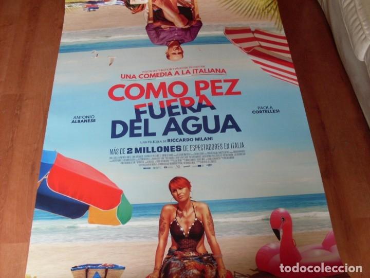 COMO PEZ FUERA DEL AGUA - ANTONIO ALBANESE, PAOLA CORTELLESI - CARTEL ORIGINAL AÑO 2017 (Cine - Posters y Carteles - Comedia)