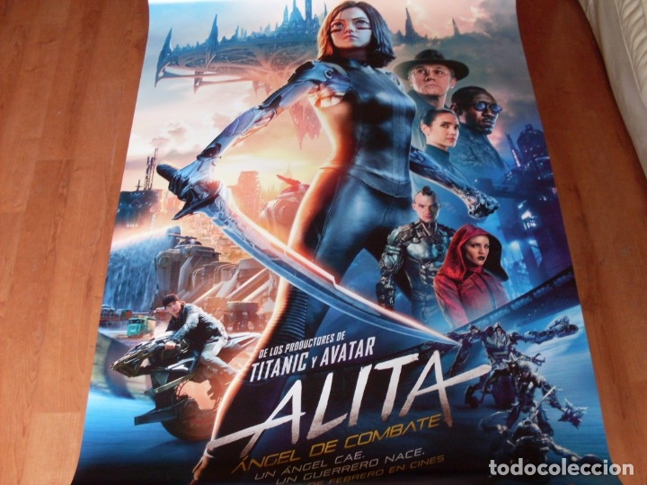 ALITA ANGEL DE COMBATE - ROSA SALAZAR, CHRISTOPH WALTZ, JENNIFER CONNELLY - CARTEL ORIGINAL AÑO 2019 (Cine - Posters y Carteles - Aventura)