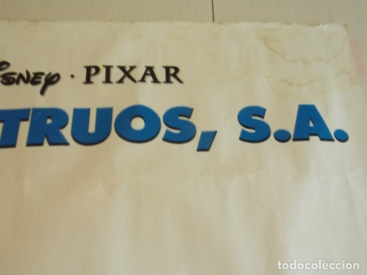 Cine: CARTEL, PELICULA, MONSTRUOS S.A - POSTER PROMOCIONAL GIGANTE 150 x 200 CM. - DISNEY... L448 - Foto 4 - 180254105