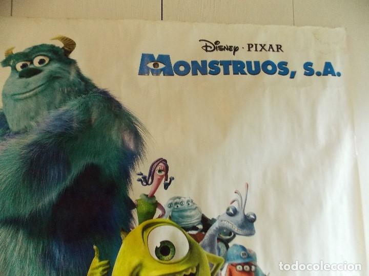 Cine: CARTEL, PELICULA, MONSTRUOS S.A - POSTER PROMOCIONAL GIGANTE 150 x 200 CM. - DISNEY... L448 - Foto 6 - 180254105
