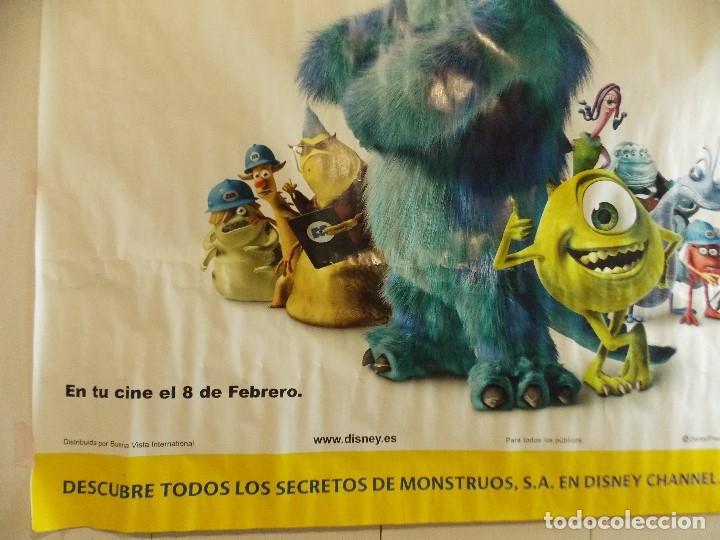Cine: CARTEL, PELICULA, MONSTRUOS S.A - POSTER PROMOCIONAL GIGANTE 150 x 200 CM. - DISNEY... L448 - Foto 7 - 180254105