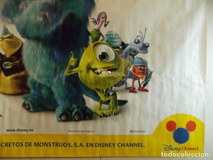 Cine: CARTEL, PELICULA, MONSTRUOS S.A - POSTER PROMOCIONAL GIGANTE 150 x 200 CM. - DISNEY... L448 - Foto 8 - 180254105