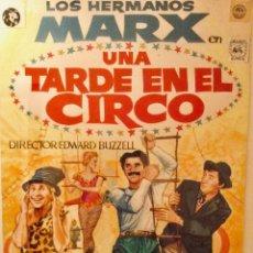 Cine: MAQUETA ORIGINAL CARTEL UNA TARDE EN EN CIRCO CON LOS HERMANOS MARX. Lote 180254260