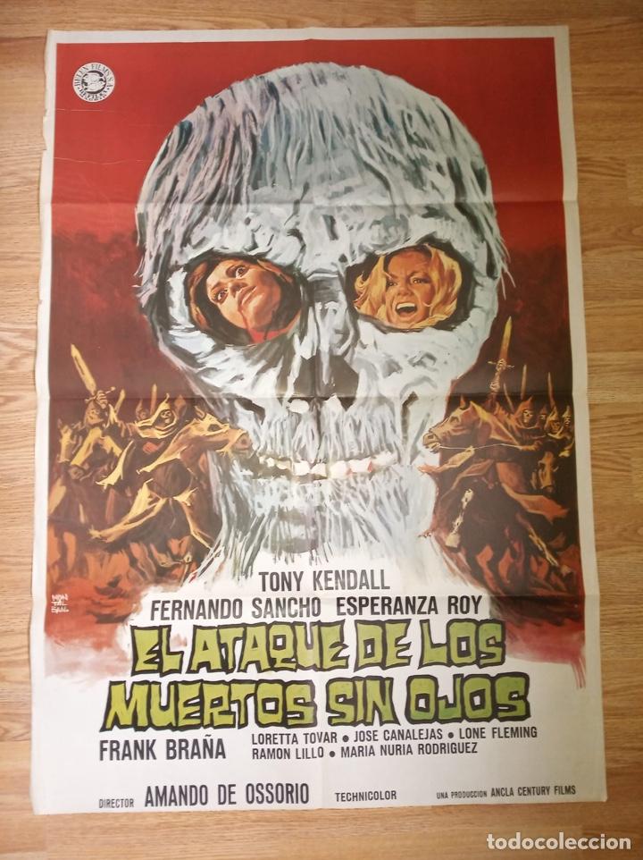 EL ATAQUE DE LOS MUERTOS SIN OJOS (Cine - Posters y Carteles - Terror)