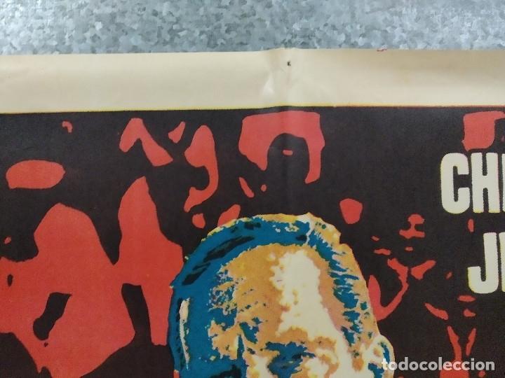 Cine: El número uno. Charlton Heston, Jessica Walter- futbol americano. AÑO 1972. POSTER ORIGINAL - Foto 3 - 180328866