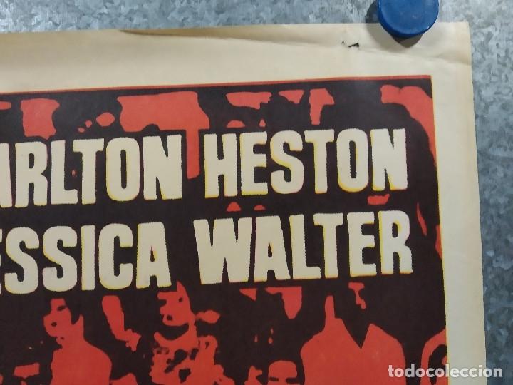 Cine: El número uno. Charlton Heston, Jessica Walter- futbol americano. AÑO 1972. POSTER ORIGINAL - Foto 4 - 180328866