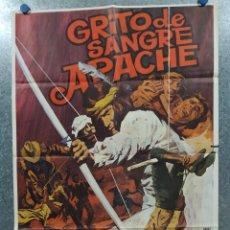 Cine: GRITO DE SANGRE APACHE. JODY MCCREA, MARIE GAHVA, DAN KEMP AÑO 1977. POSTER ORIGINAL. Lote 180329895