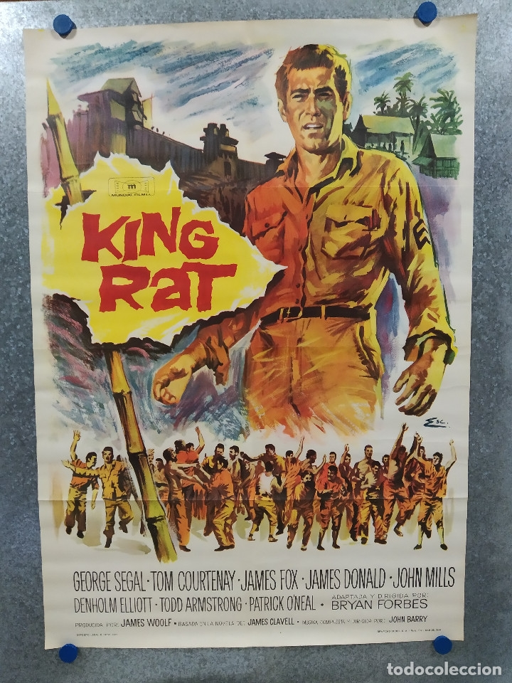 KING RAT. GEORGE SEGAL, TOM COURTENAY, JAMES FOX AÑO 1967. POSTER ORIGINAL (Cine - Posters y Carteles - Bélicas)