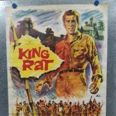 Cinéma: KING RAT. GEORGE SEGAL, TOM COURTENAY, JAMES FOX AÑO 1967. POSTER ORIGINAL. Lote 180330766