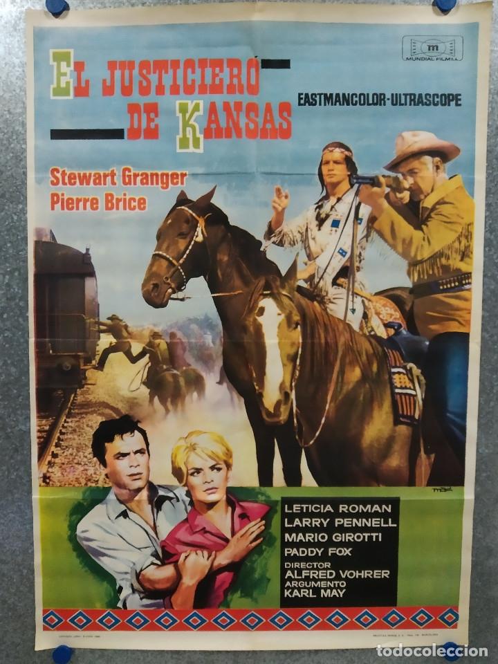 EL JUSTICIERO DE KANSAS. STEWART GRANGER, PIERRE BRICE, LARRY PENNELL. AÑO 1966. POSTER ORIGINAL (Cine - Posters y Carteles - Westerns)
