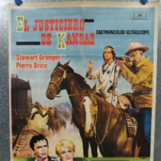 Cine: EL JUSTICIERO DE KANSAS. STEWART GRANGER, PIERRE BRICE, LARRY PENNELL. AÑO 1966. POSTER ORIGINAL. Lote 180330985