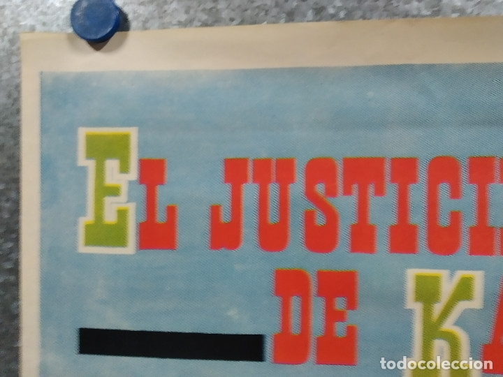 Cine: El justiciero de Kansas. Stewart Granger, Pierre Brice, Larry Pennell. AÑO 1966. POSTER ORIGINAL - Foto 2 - 180330985