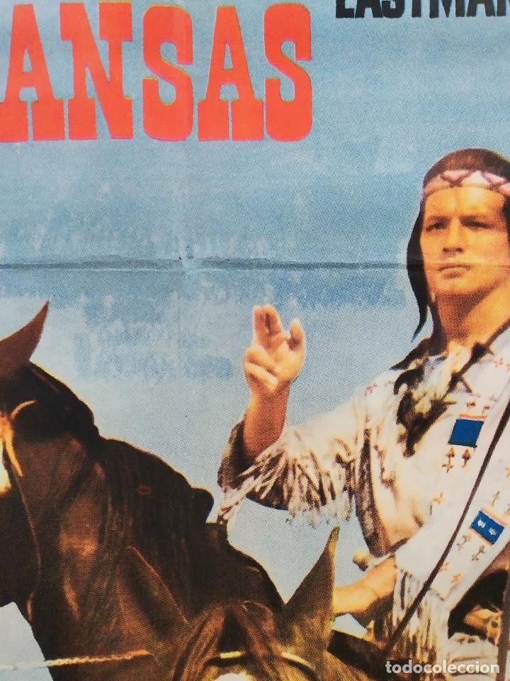 Cine: El justiciero de Kansas. Stewart Granger, Pierre Brice, Larry Pennell. AÑO 1966. POSTER ORIGINAL - Foto 7 - 180330985