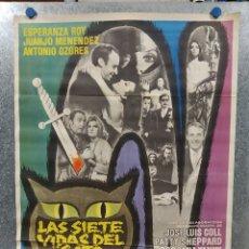 Cine: LAS SIETE VIDAS DEL GATO. ESPERANZA ROY, JUANJO MENÉNDEZ, ANTONIO OZORES AÑO 1970. POSTER ORIGINAL. Lote 180331138