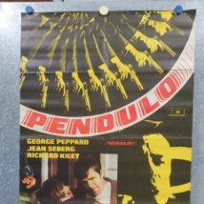 Cine: PÉNDULO. GEORGE PEPPARD, JEAN SEBERG, RICHARD KILEY AÑO 1969. POSTER ORIGINAL. Lote 180331401