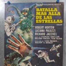 Cine: BATALLA MÁS ALLÁ DE LAS ESTRELLAS. ROBERT HORTON, RICHARD JAECKEL AÑO 1967. POSTER ORIGINAL. Lote 180335708