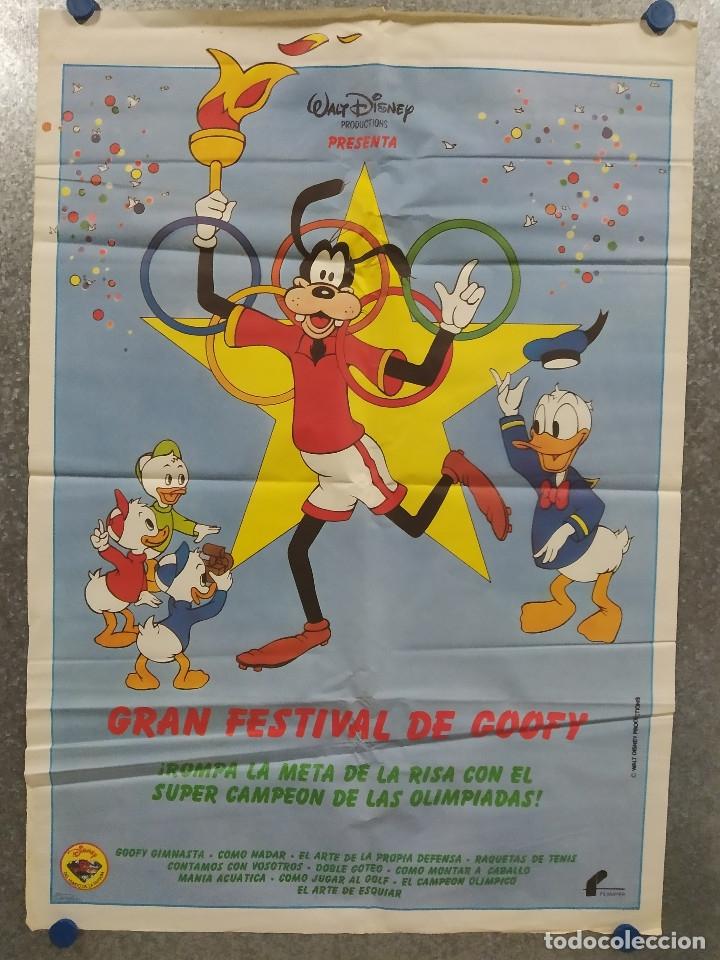 GRAN FESTIVAL DE GOOFY WALT DISNEY OLIMPIADAS POSTER ORIGINAL (Cine - Posters y Carteles - Infantil)
