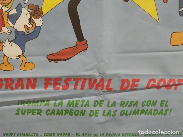Cine: GRAN FESTIVAL DE GOOFY WALT DISNEY OLIMPIADAS POSTER ORIGINAL - Foto 8 - 207722146