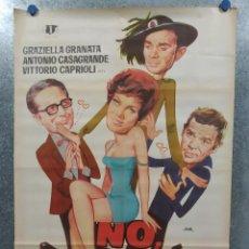 Cine: NO, NO... MI AMOR GRAZIELLA GRANATA, ANTONIO CASAGRANDE, RENATO SALVATORI AÑO 1970. POSTER ORIGINAL. Lote 180337198