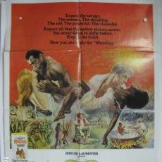 Cine: MANDINGO - POSTER CARTEL ORIGINAL USA - JAMES MASON SUSAN GEORGE PERRY KING ESCLAVISMO RAZISMO. Lote 180339406