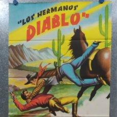 Cine: LOS HERMANOS DIABLO. ABEL SALAZAR, MAURICIO GARCES, RAFAEL BALEDON. AÑO 1961. POSTER ORIGINAL. Lote 180339653