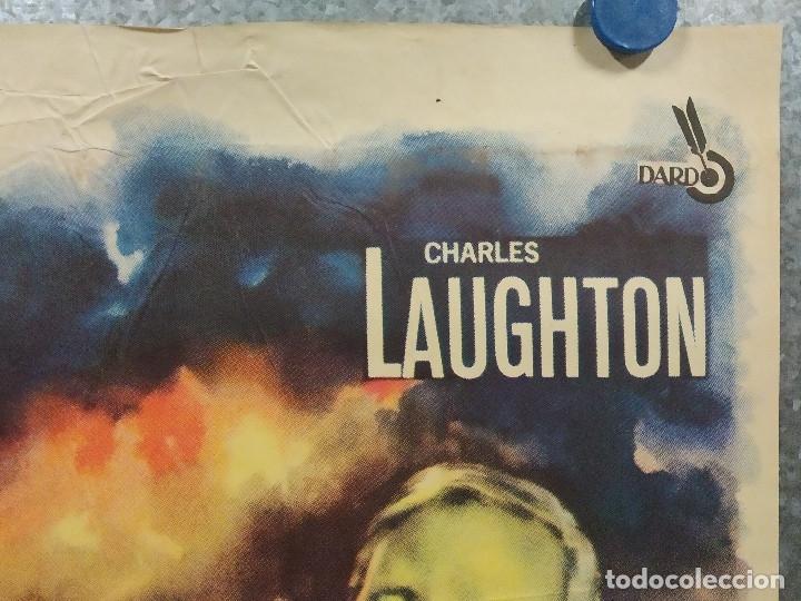 Cine: Bajo diez banderas. Van Heflin, Charles Laughton, Mylène Demongeot AÑO 1959. POSTER ORIGINAL - Foto 3 - 180340066