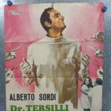 Cine: DOCTOR TERSILLI, MÉDICO DE LA CLÍNICA VILLA CELESTE. ALBERTO SORDI. AÑO 1971. POSTER ORIGINAL. Lote 180343380
