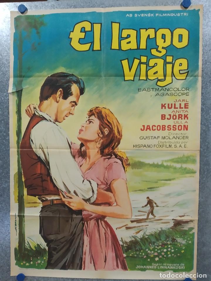 EL LARGO VIAJE. GUSTAF MOLANDER, ANITA BJORK. AÑO 1964. POSTER ORIGINAL (Cine- Posters y Carteles - Drama)