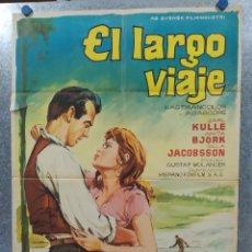 Cine: EL LARGO VIAJE. GUSTAF MOLANDER, ANITA BJORK. AÑO 1964. POSTER ORIGINAL. Lote 180343647
