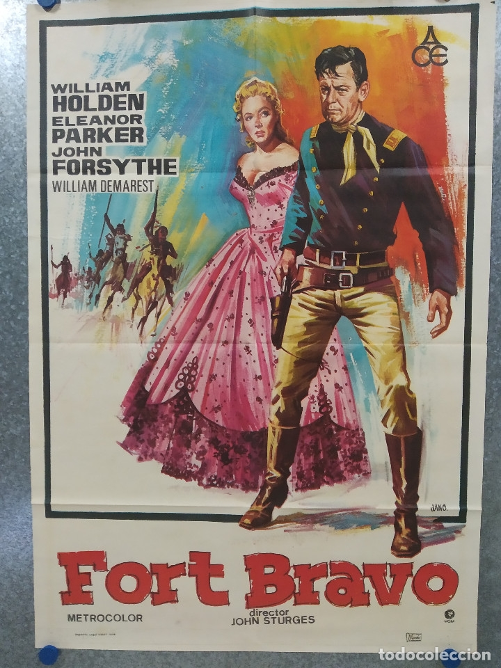 FORT BRAVO. WILLIAM HOLDEN, ELEANOR PARKER AÑO 1974. POSTER ORIGINAL (Cine - Posters y Carteles - Westerns)