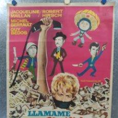 Cine: APPELEZ-MOI MATHILDE (LLÁMAME MATILDE). JACQUELINE MAILLAN, MICHEL SERRAULT AÑO 1970 POSTER ORIGINAL. Lote 180347346