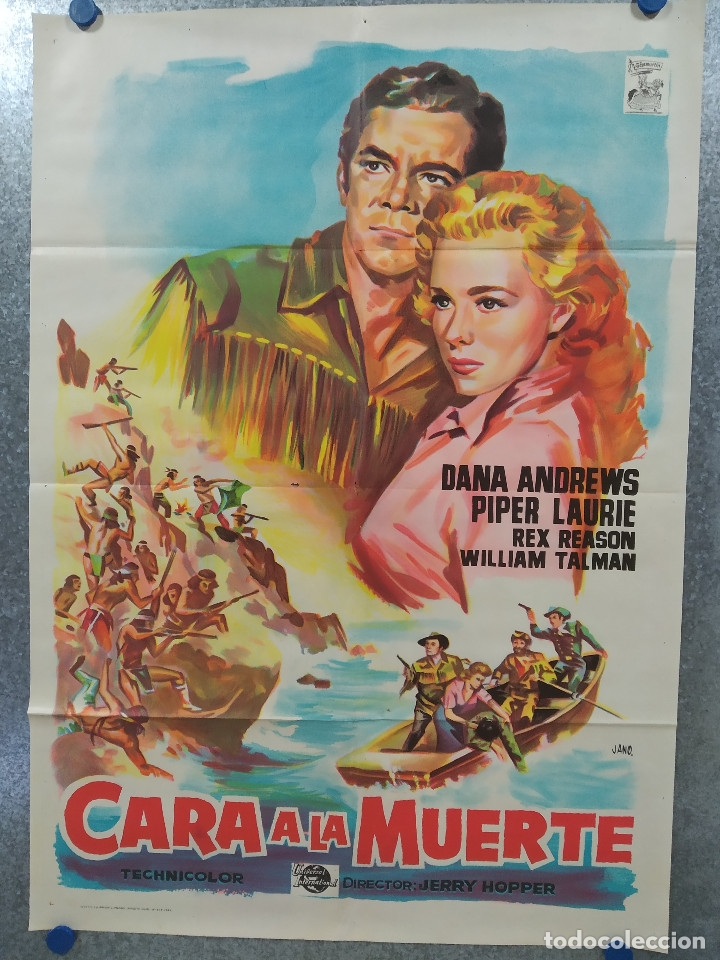 CARA A LA MUERTE. DANA ANDREWS. PIPER LAURIE. AÑO 1964. POSTER ORIGINAL LITOGRAFIA (Cine - Posters y Carteles - Westerns)