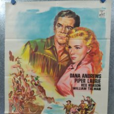 Cine: CARA A LA MUERTE. DANA ANDREWS. PIPER LAURIE. AÑO 1964. POSTER ORIGINAL LITOGRAFIA. Lote 180348133