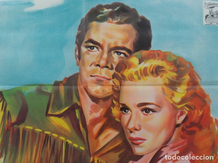 Cine: CARA A LA MUERTE. DANA ANDREWS. PIPER LAURIE. AÑO 1964. POSTER ORIGINAL LITOGRAFIA - Foto 5 - 180348133
