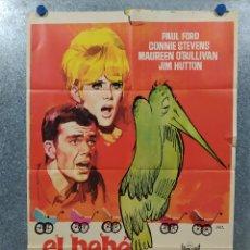 Cine: EL BEBÉ DE LA DISCORDIA. PAUL FORD, CONNIE STEVENS, MAUREEN O'SULLIVAN AÑO 1966. POSTER ORIGINAL . Lote 180348587