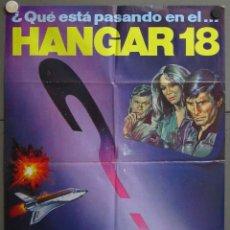 Cine: ZX36 HANGAR 18 DARREN MACGAVIN ROBERT VAUGHN MAC SCI-FI POSTER ORIGINAL 70X100 ESTRENO. Lote 180348797