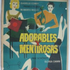 Cine: ADORABLES Y MENTIROSAS - POSTER CARTEL ORIGINAL - ISABELLE COREY FRANCO FABRIZI ADORABILI E BUGIARDE. Lote 180388871