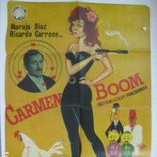 Cine: CARMEN BOOM - POSTER CARTEL ORIGINAL - MARUJA MARUJITA DIAZ RICARDO GARRONE NICK NOSTRO. Lote 180389688