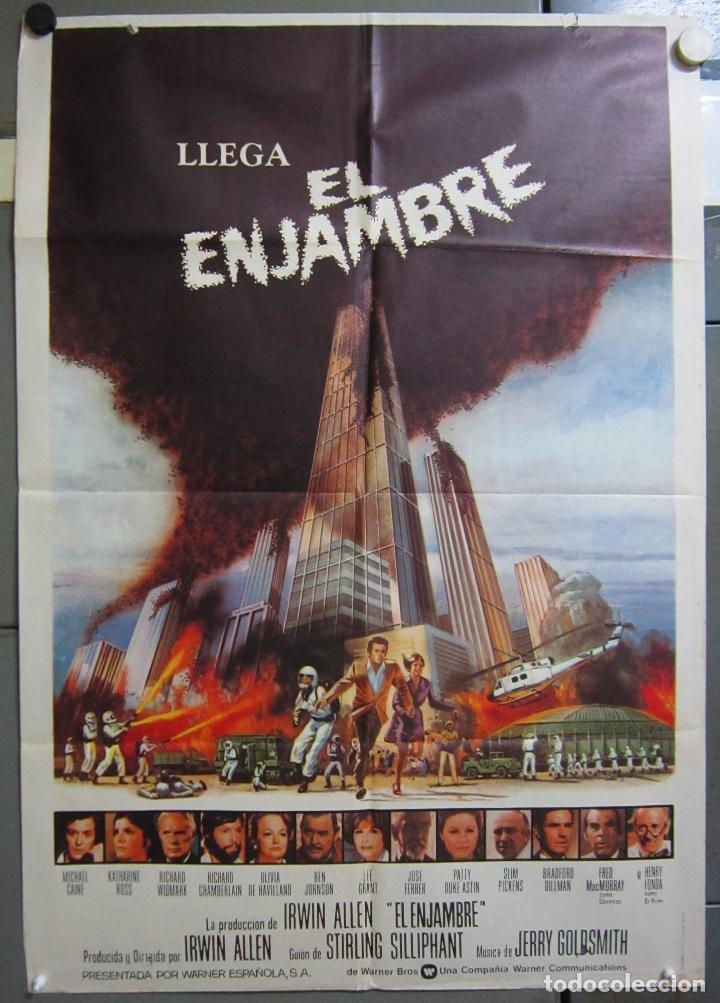 ZX30 EL ENJAMBRE MICHAEL CAINE KATHERINE ROSS POSTER ORIGINAL 70X100 ESTRENO (Cine - Posters y Carteles - Terror)